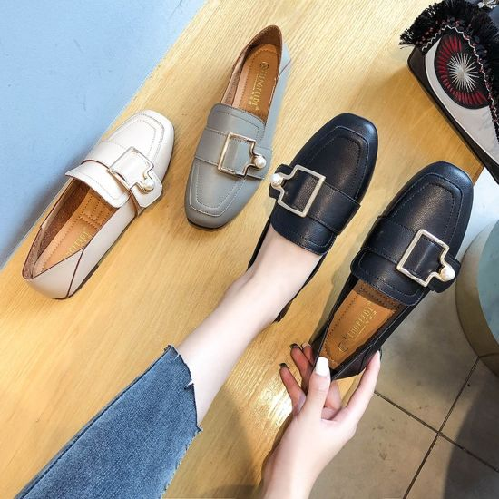 S Flat Shoes PU Loafers