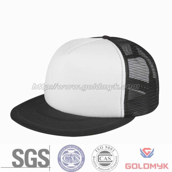 china flat bill blank mesh cap logo can be embroidery or printing