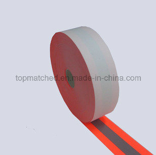 Hi-Vis 100% Aramid Fireproof Reflective Tape Orange-Silver-Orang pictures & photos