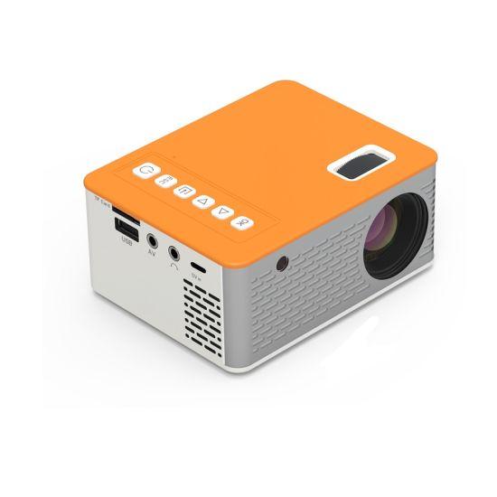 Yellow Color LED Short Focus 480*272 Mini HD Projector UC28d