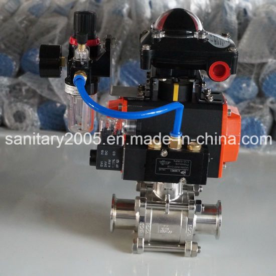 Pneumatic Actuator Controlled Ball Valve to Controlled Steam