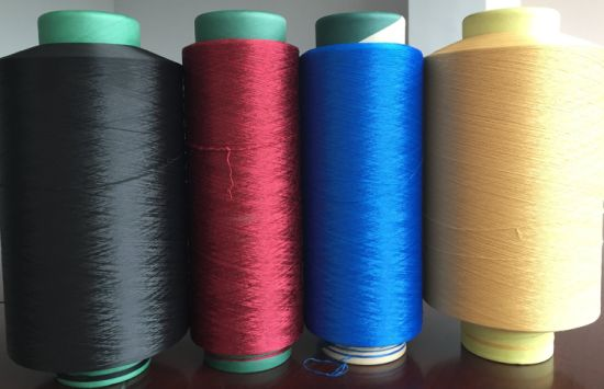 Polyester Yarn DTY 300d/144f pictures & photos