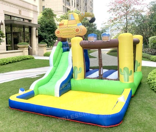 Happy Lion Homeuse Inflatable Castle Bouncers Jumping Inflatable Bouncer Slide for Kids pictures & photos