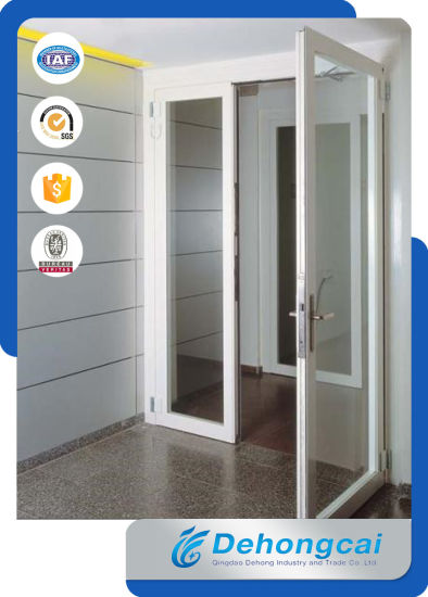 China Modern Design Exterior Pvc Glass Doors With Cheap Price