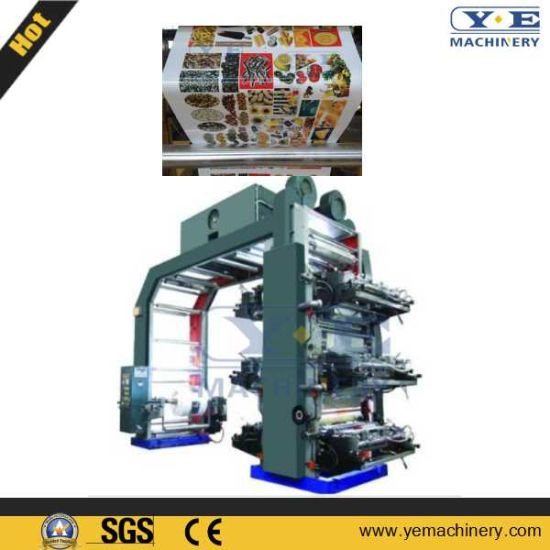 High Speed 6colors PLC Flexo Printing Machine (YT-H) pictures & photos