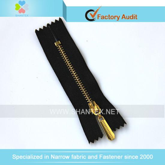 No. 3 Golden Brass Zipper Close End.