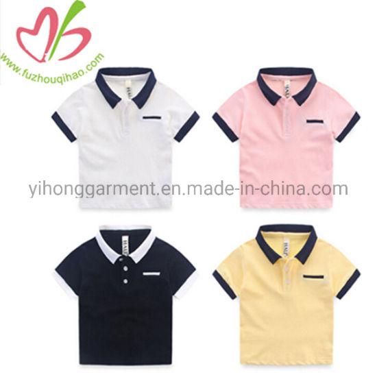 Wholesale Short Sleeve Polo Collar Sports Boy Shirts Top