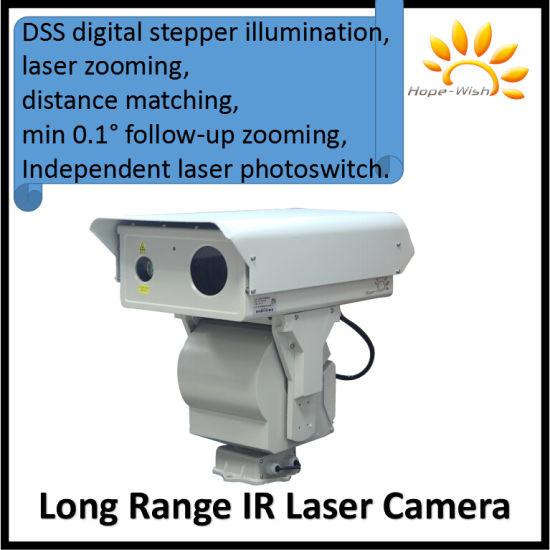 1km 6km Long Range HD Scanner PTZ IR Security Laser Camera