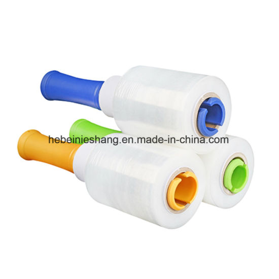 China Extend Core 80 Gauge Hand Use Mini Stretch Wrap Film for