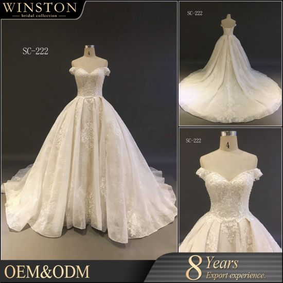 China 2018 Designer Champagne Colored Bridal Gowns Fashion High ...