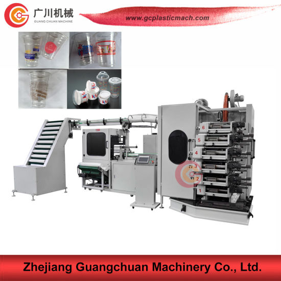 Ladder Type Cup Printing Machine with 6 Color