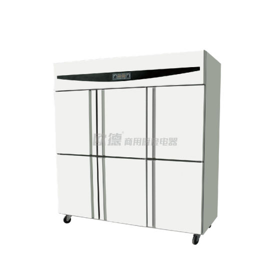 Factory Price Commercial Kitchen Vertical Upright Six Door Refrigerator
