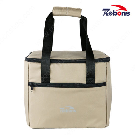 Outdoor Lunch Cooler Ice Picnic Recycled Fabric Bag for Freeze Wine