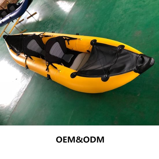 3.6m PVC Inflatable Single Person Kayak for Fishing