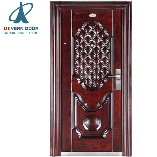 China Modern Safety Iron Main Door Steel Security Door Design