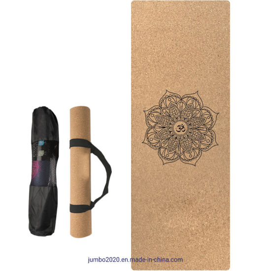 "Repose Eco-Friendly 2mm Cork and Natural Rubber Travel Yoga Mat for Earth and Health. 72"" Long X 24"" Wide Non-Toxic for Hot Yoga Pilates and Exercise on Floor"