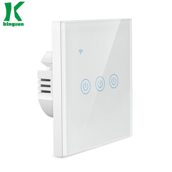 EU Standard Type 3gang Tuya Remote WiFi Touch Switch