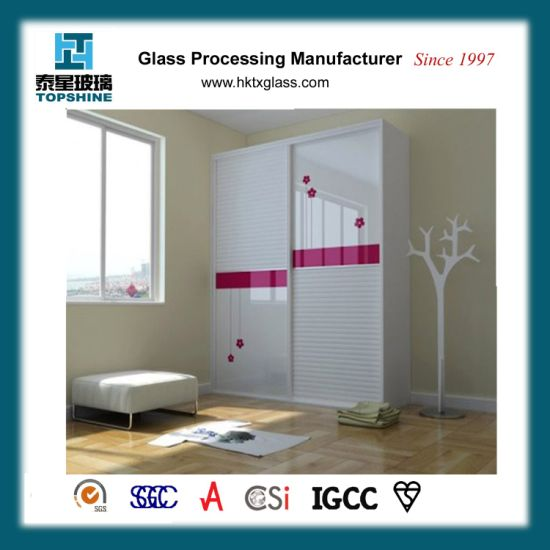 China Customized Design Silk Screen Printing Glass Wardrobe ...