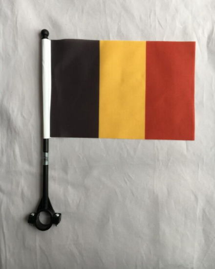 Customized Belgium Bike Safety Flag Pole Bicycle Sports Flag pictures & photos