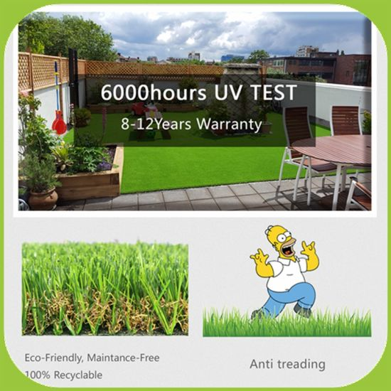 Landscape Decoration Synthetic Artificial Field Grass for Garden and Home