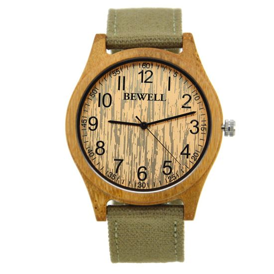 Custom High Quality Fashion Cheap Men Women Bamboo Wrist Watch for Promotion Gifts pictures & photos