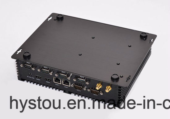 Dual Intel Nics I7 CPU Fanless Industrial Computer with Embedded Motherboard WiFi Max 8g RAM pictures & photos