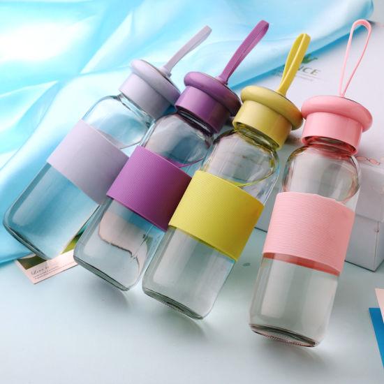 China Factory 450ml Custom Glass Jar Drink Storage Water Bottle
