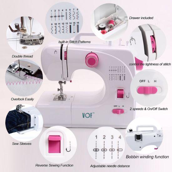 China Vof Cheap Price Multi-Function Portable Stitch Sewing Machine ...