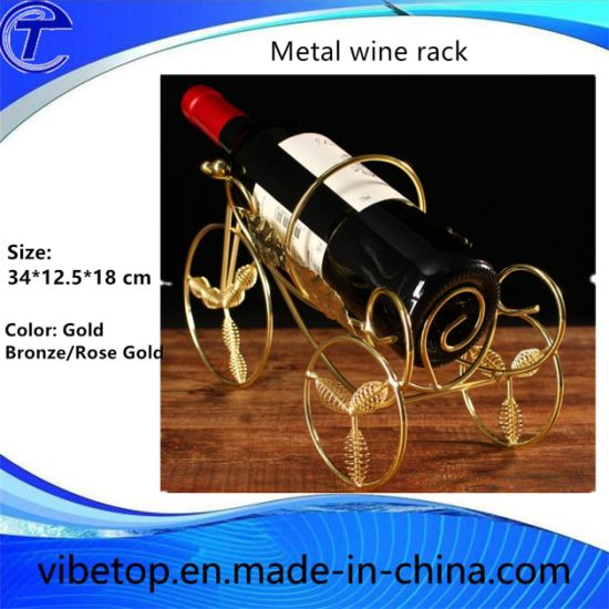 Chrome Plating Metal Wine Rack and Cup Holder