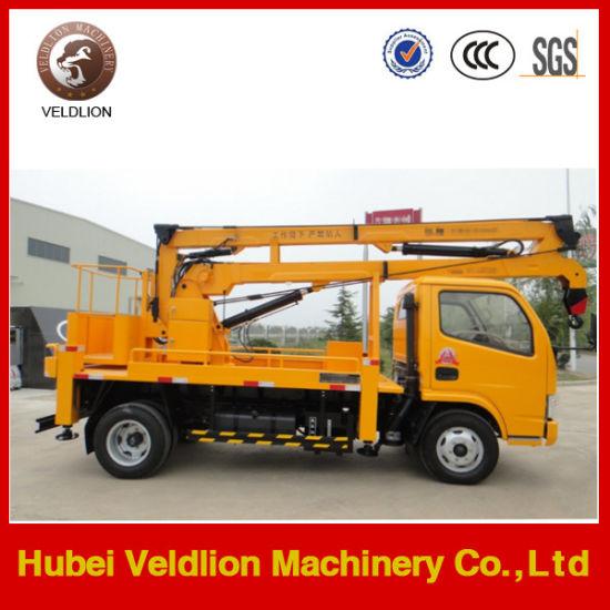 China 4X2 Aerial Hydraulic Lifting Platform 16m Shear Fork Type