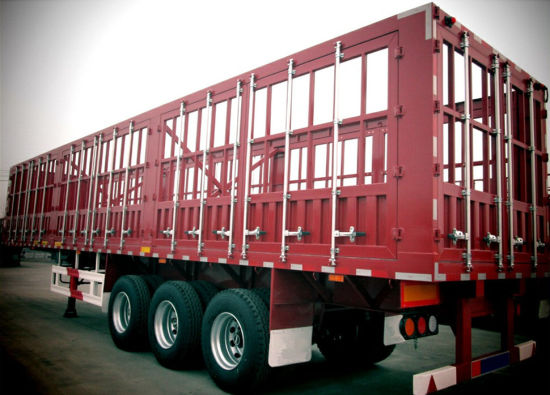 Tri-Axle Multi-Functional Flatbed 30-60 Tons Side Wall Stake Trailer pictures & photos