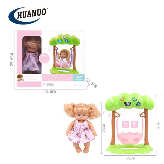 Baby New Electric Doll Toys Baby Swing Set with Light and Music
