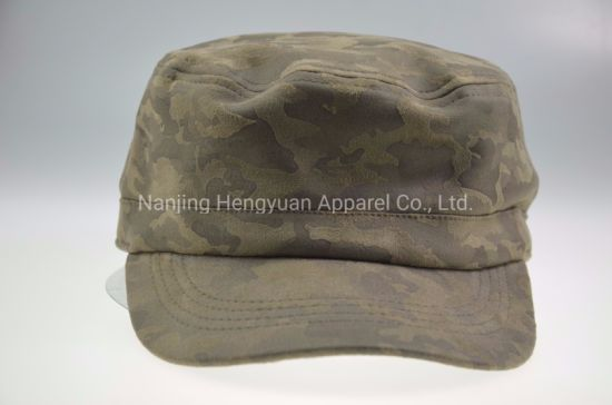 Custom Flat Top Camo Hat Military Army Cap pictures & photos