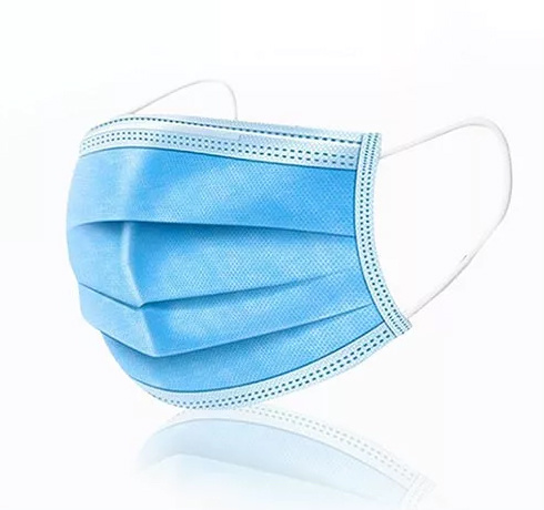 Disposable Face Mask with 3 Layers Non Woven Melt Blown Cloth and Ear Loop for Personal Health