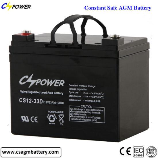 Maintenance Free Bateria 12V 33ah VRLA AGM Lead Acid Battery