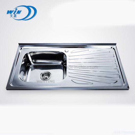 10050 China Heat Sink Stainless Steel Kitchen Sink Copper Display Sink Wy10050b