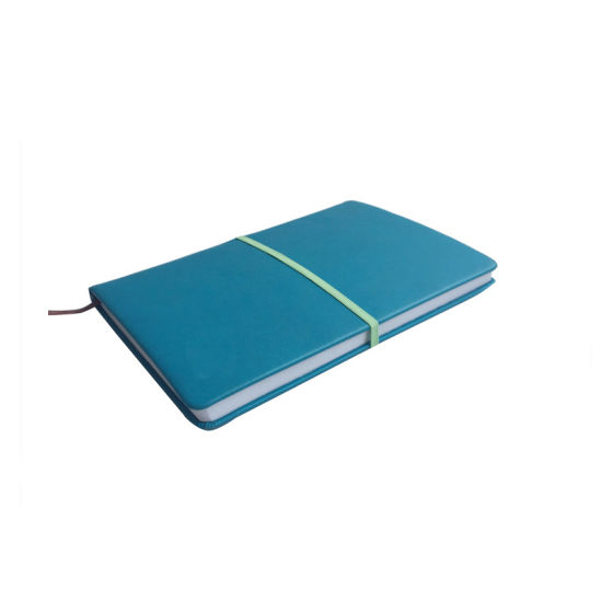 A5 Blue Color with Elastic PU Hardcover Notebook