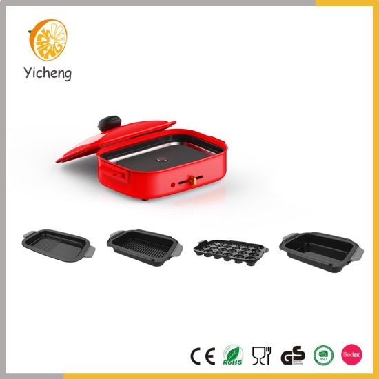 Electric Compact Hot Plate Flat Takoyaki Grill Plate Maker Set with Detachable Plates pictures & photos