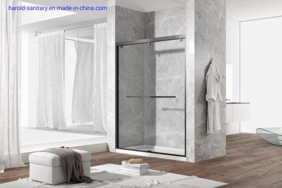 Framed Clamp Hanging Double Slider Shower Enclosure