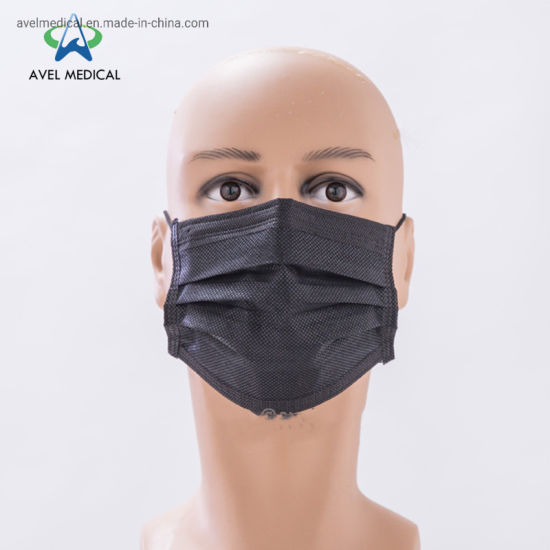 Disposable Nonwoven 3ply Filter Paper Dust Mask Anti Virus Face Mask Pm 2.5 Earloop Mouth Cover for Civilian Use