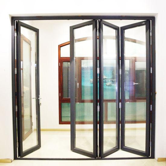 Custom Aluminium Patio Doors/Aluminum Folding Doors/Bifolding Glass Interior Doors/Exterior Door/Bi-Folding Door/Sliding Folding Door