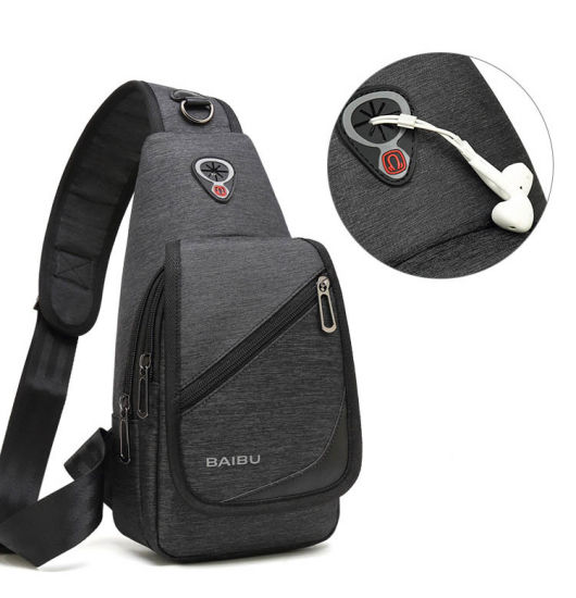 Men Fashion Single Shoulder Leisure Travel Outdoor Sports iPad Tablet PC Crossbody Chest Bag (CY3543)