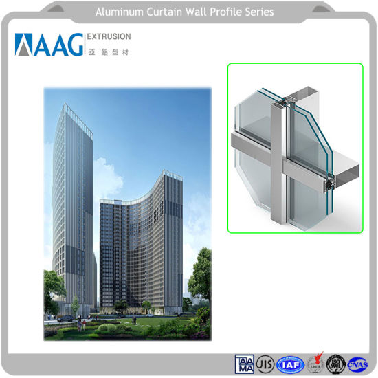 China Aluminum Glazing Unitized Anodizing and Powder Coating