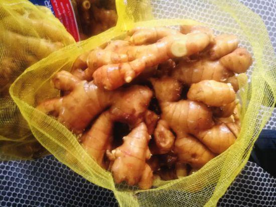 Fresh Ginger Packed in Mesh Bag