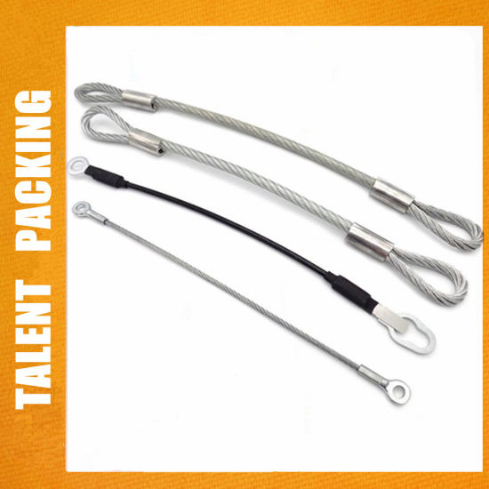 Clear PVC Coated Pressed Wire Rope Sling with Loop