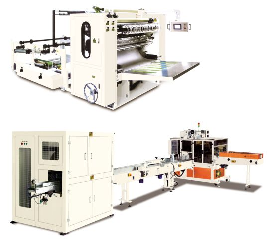 Plastic Film Soft Bag Facial Tissue Production Line Paper Making Cutting N Packaging Machines