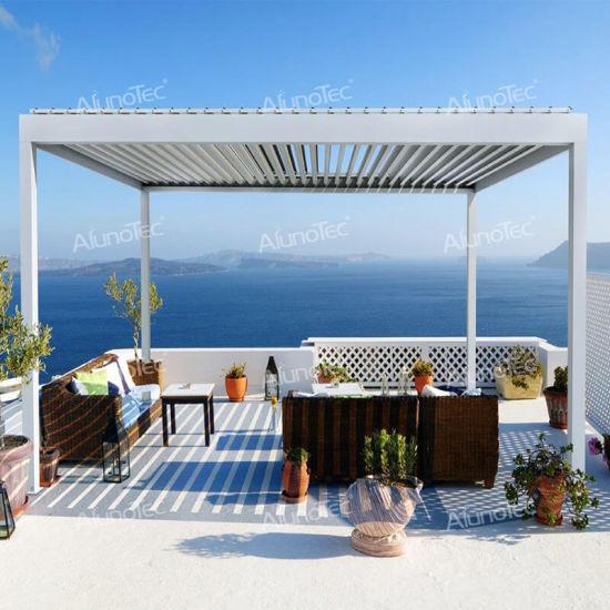OEM Modern Outdoor Garden Aluminium Covers Waterproof Decking Furniture Sets Louvered Gazebo Pergola