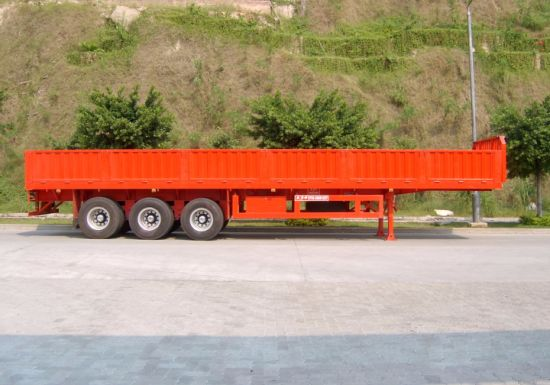 40 Feet 3 Axles Wall Side Trailer pictures & photos