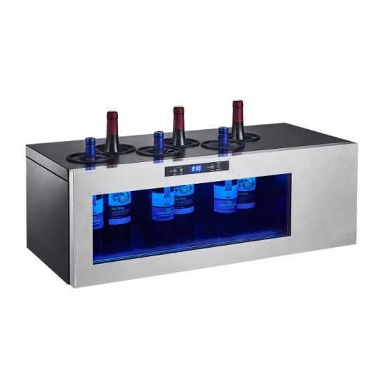 Wholesale Portable Temperature Controlled 6 Bottles Counter Top Wine Celler Single Zone