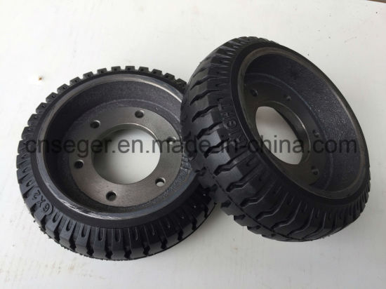 Custom Cast Iron Wheels with and Without Rubbers